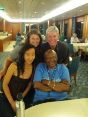 by Cynthia Y., M&T Class of 2006 (pictured at left, next to the Archbishop Desmond Tutu)