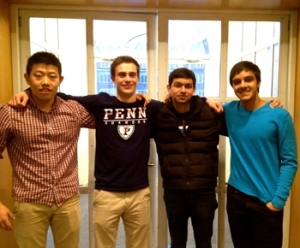 LoudCrowd team: (from left) Ben, Alex, Ajay, and Gagan