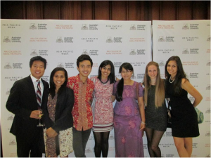 by Charu J., M&T Class of 2014, center, with other APW delegates from Indonesia, Myanmar, Canada, US and Argentina at the National Portrait Gallery in Canberra, Australia